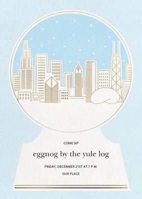 Skyline Snowglobe - Paperless Post - Holiday invitations