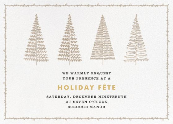 Tree Lines - Crate & Barrel - Holiday invitations