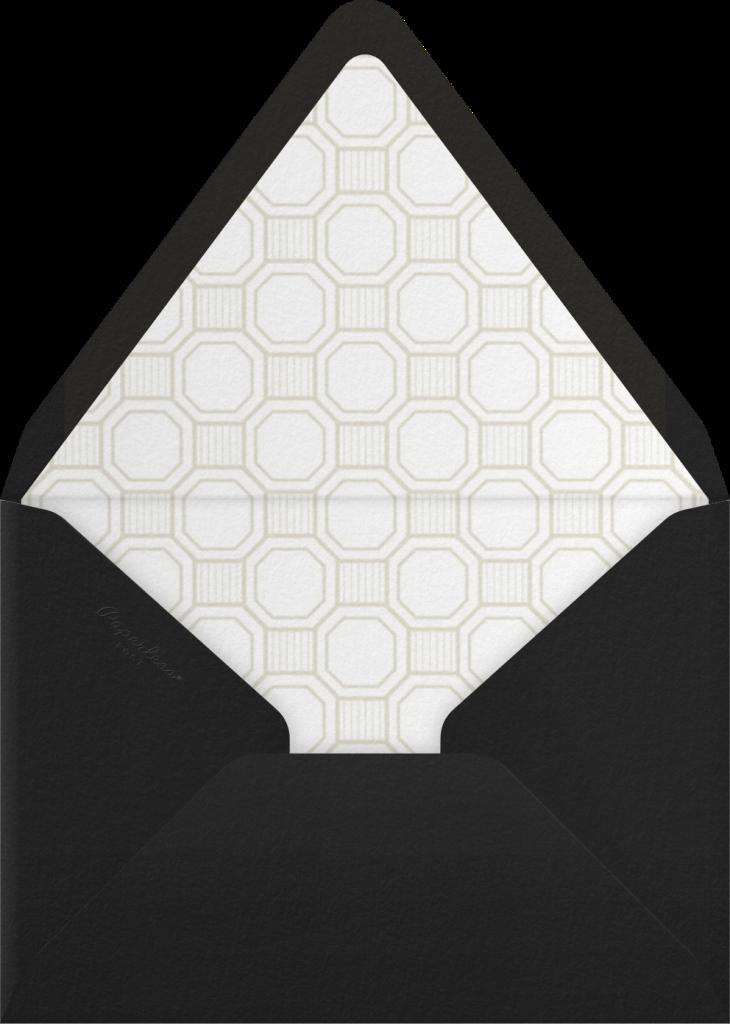 Claridge (Tall) - Black - Paperless Post - Envelope