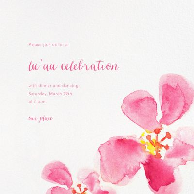 Hawaiian Flower - Paperless Post