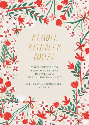 Merry Florals - Mr. Boddington's Studio - Holiday invitations