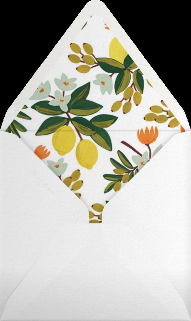 Citrus Orchard - Mint  - Rifle Paper Co. - Envelope