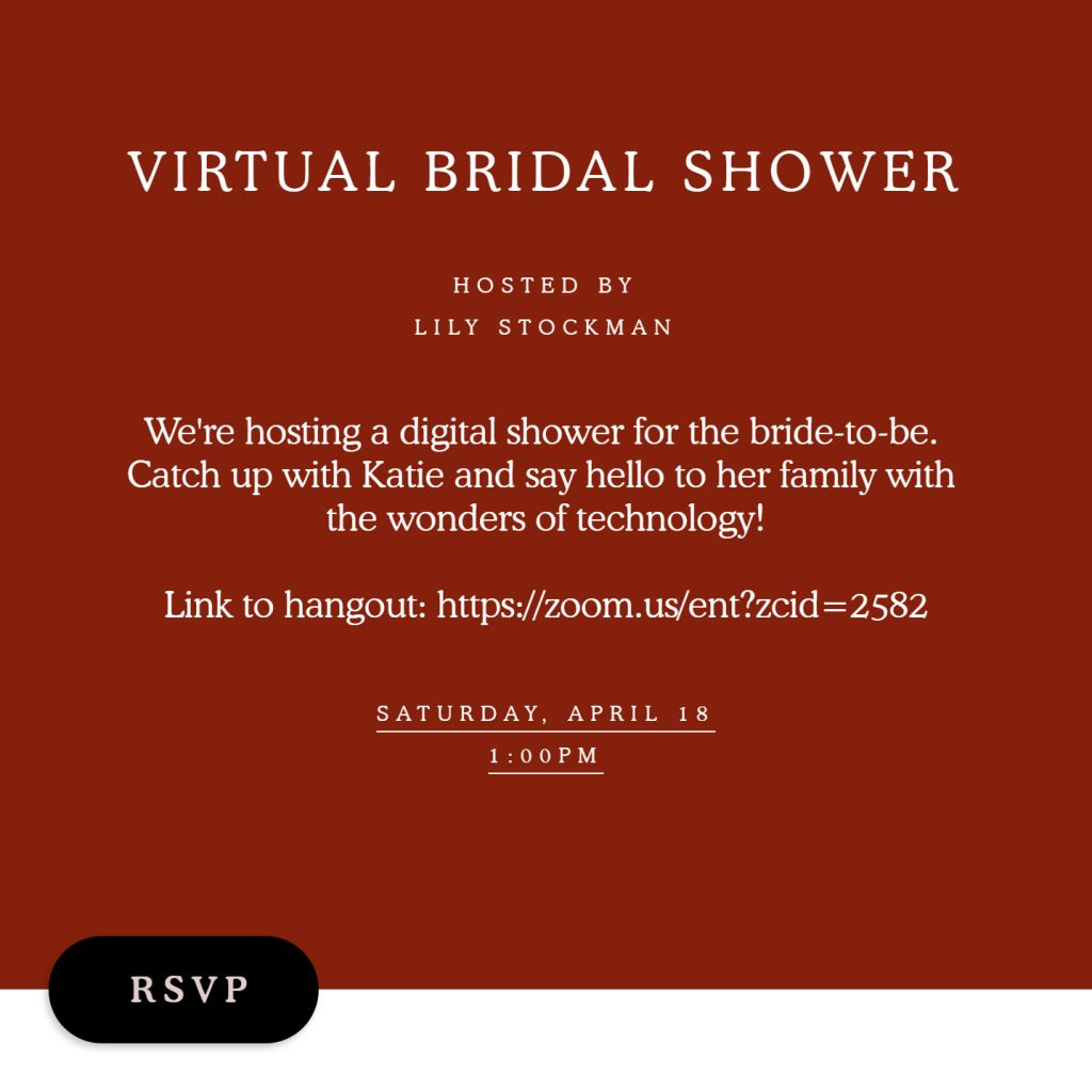 Virtual Bridal Brunch