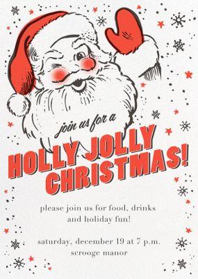 Holly Jolly Invitation - Hello!Lucky