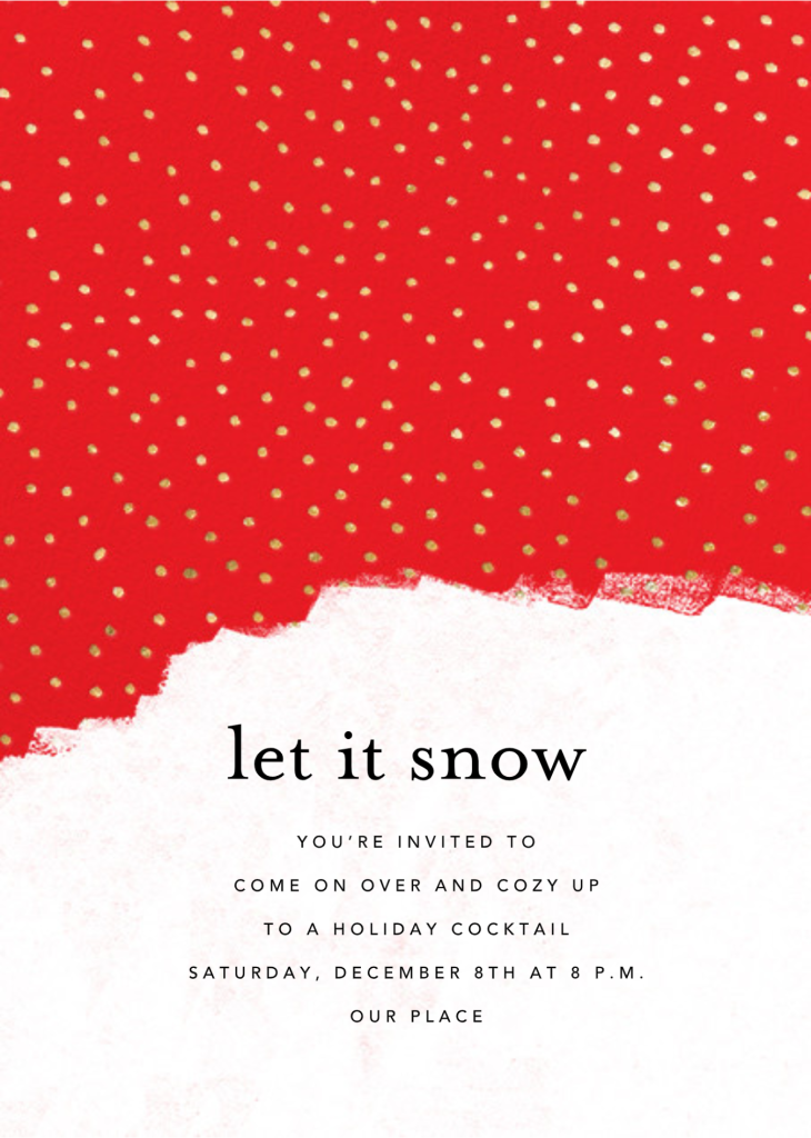 Confetti Snowfall - Maraschino - Ashley G