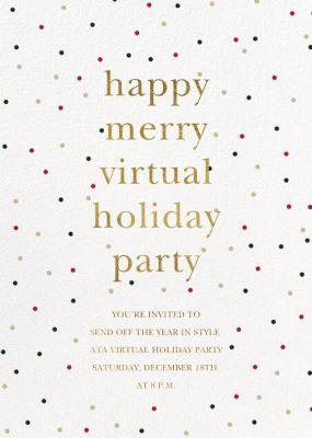 Holiday Sprinkles - Sugar Paper - Holiday invitations