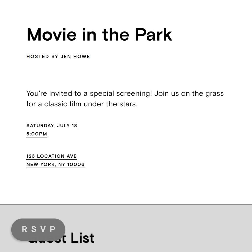 Summer Screening