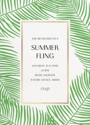 Palmier Nouveau (Invitation) - Paperless Post