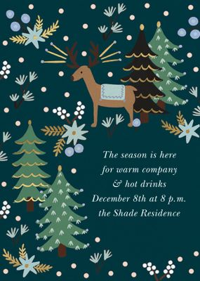 Twinkling Reindeer - Rifle Paper Co. - Holiday invitations