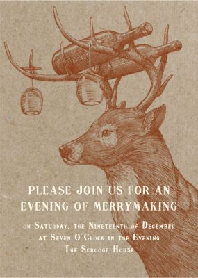 Buck and Wine - Paperless Post - Holiday invitations