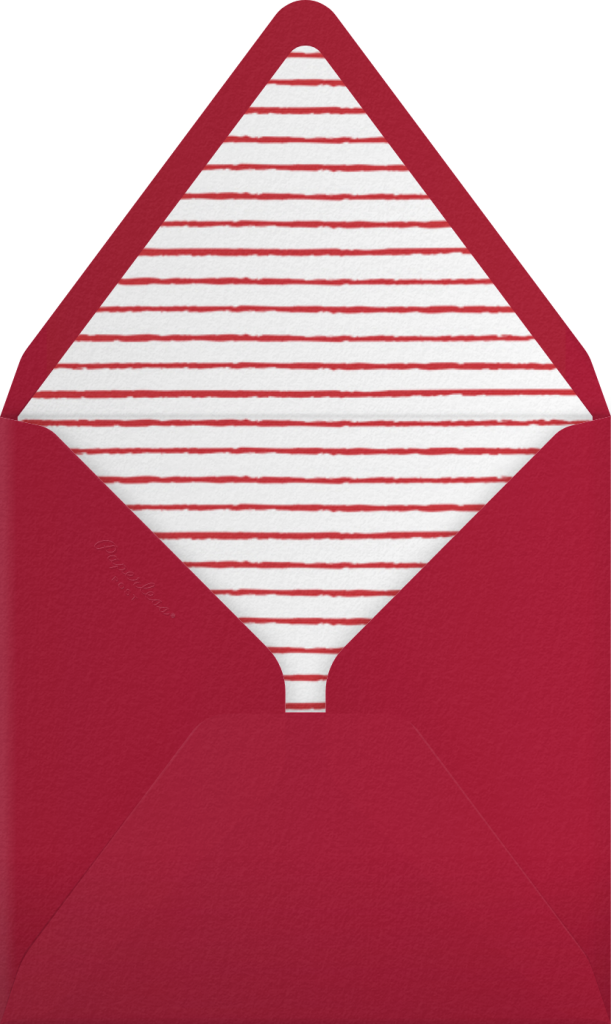 Cartwheelin' Claus - Fair - Paperless Post - Envelope