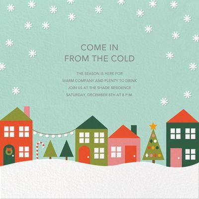 Snowville - Petit Collage - Holiday invitations