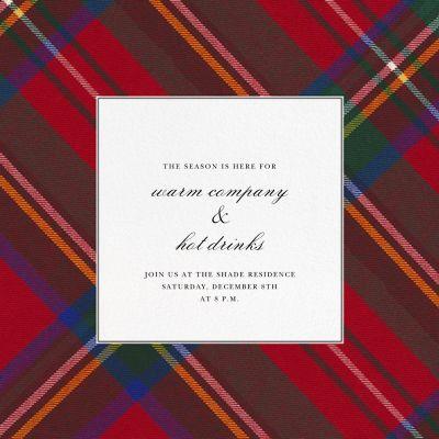 Tartan (Square) - Oscar de la Renta - Holiday invitations