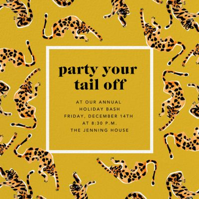 It's a Jungle Out There - Anthropologie - Holiday invitations