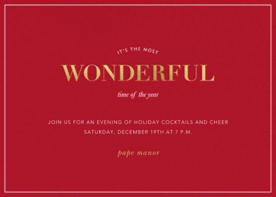 Holiday Wonders - Sugar Paper - Holiday invitations