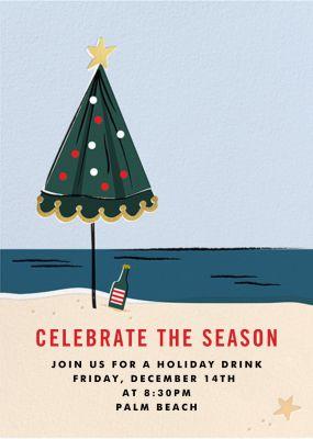 On Holiday (Invitation) - Cheree Berry Paper & Design - Holiday invitations