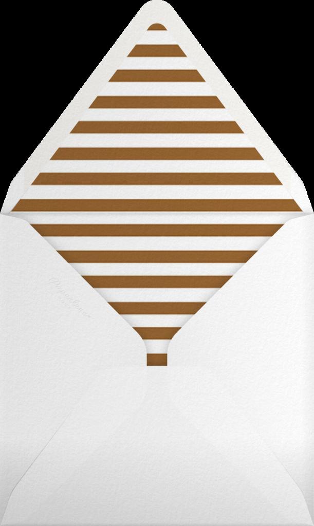 Gingerbread Invite - Leaf Green - The Indigo Bunting - Envelope