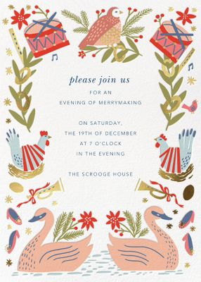 12 Days of Gifts - Hello!Lucky - Holiday invitations