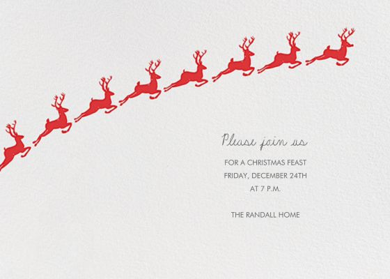 Santa's Prancers - Linda and Harriett - Holiday invitations