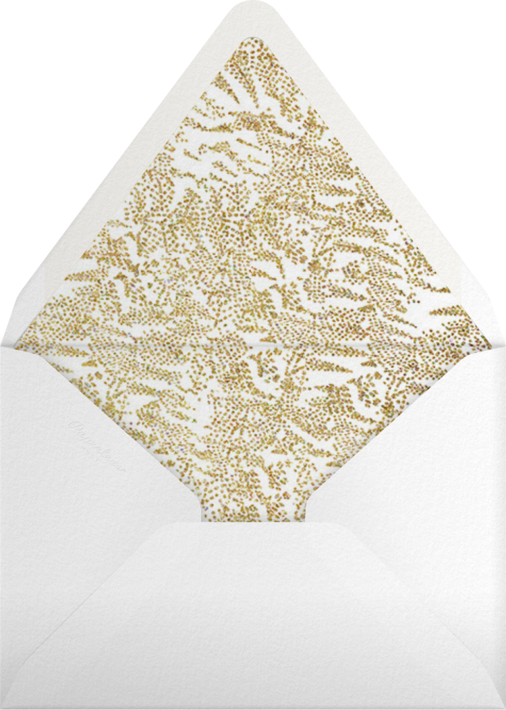 Crystal Pines (Invitation) - Gold - Paperless Post - Envelope