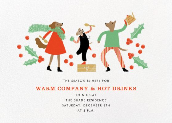 A Christmas Kennel - Paperless Post - Holiday invitations