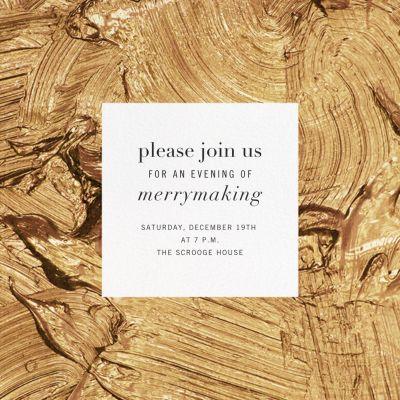 Gypsum - Kelly Wearstler - Holiday invitations