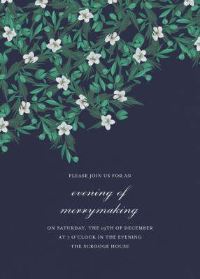 Snowrose Hedge - Paperless Post - Holiday invitations