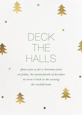 Holiday Cutups - Sugar Paper - Holiday invitations