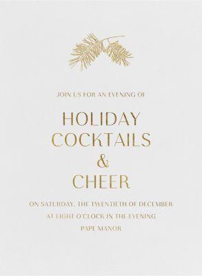 Caledonia (Invitation) - Paperless Post - Holiday invitations
