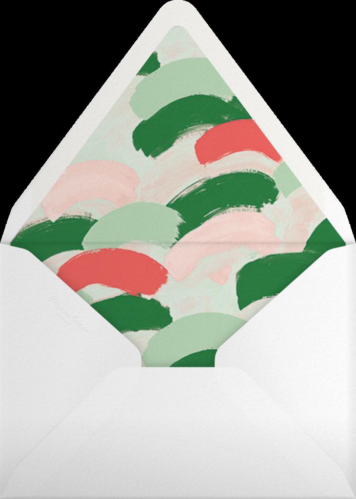 Confetti Snowfall - Maraschino - Ashley G - Envelope
