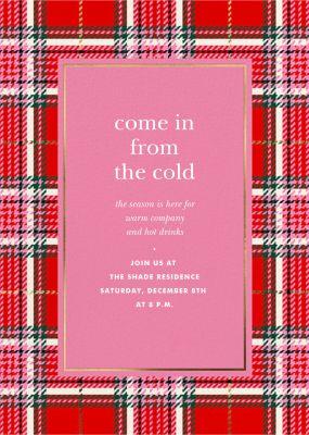 Holiday Plaid - kate spade new york - Holiday invitations