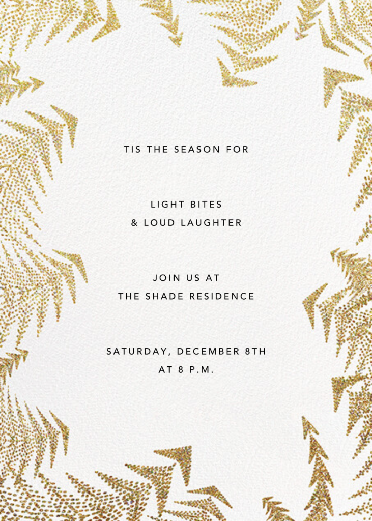 Crystal Pines (Invitation) - Gold - Paperless Post