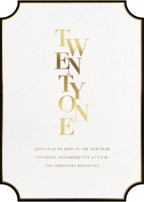 Royal New Year - Sugar Paper - New Year's Eve Invitations