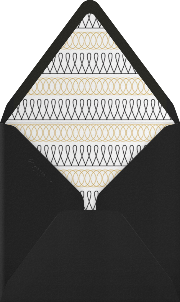 Spirals (Save the Date) - Gold - Paperless Post - Envelope