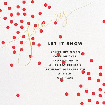 Join Us (Dots) - Linda and Harriett - Holiday invitations