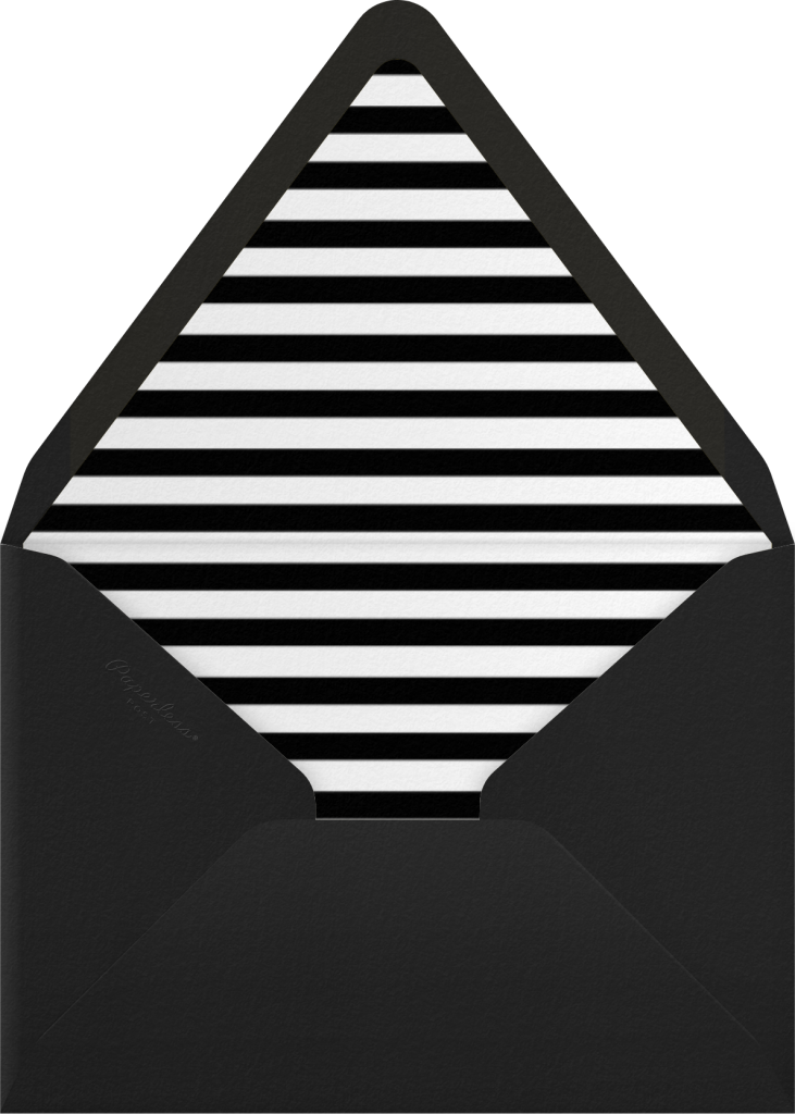Bold Line - Black - The Indigo Bunting - Envelope