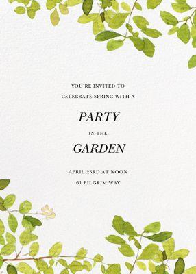 Spring Shade - Felix Doolittle - Summer Party Invitations