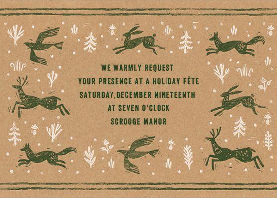 Winter Chase - Paperless Post - Holiday invitations