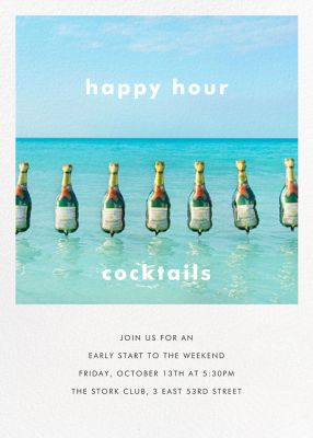 Champagne Float - Gray Malin - Summer Party Invitations