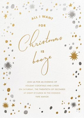 All I Want For Christmas is Booze - Paperless Post