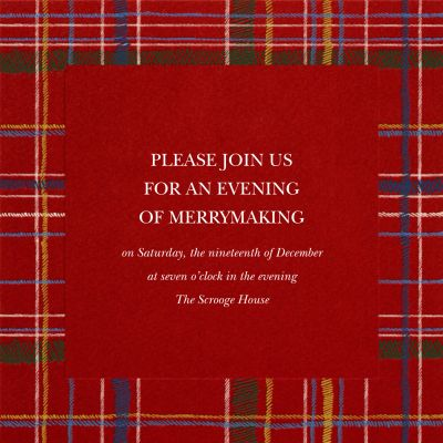 Contemporary Plaid - Paperless Post - Holiday invitations
