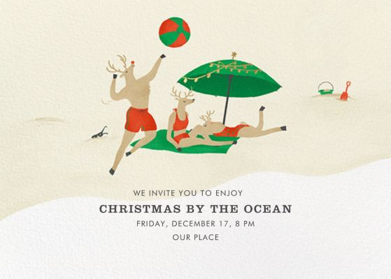 Reindeer Beach Games - Paperless Post
