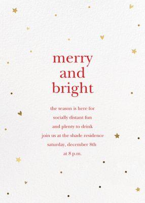Holiday Hearts - Sugar Paper - Holiday invitations