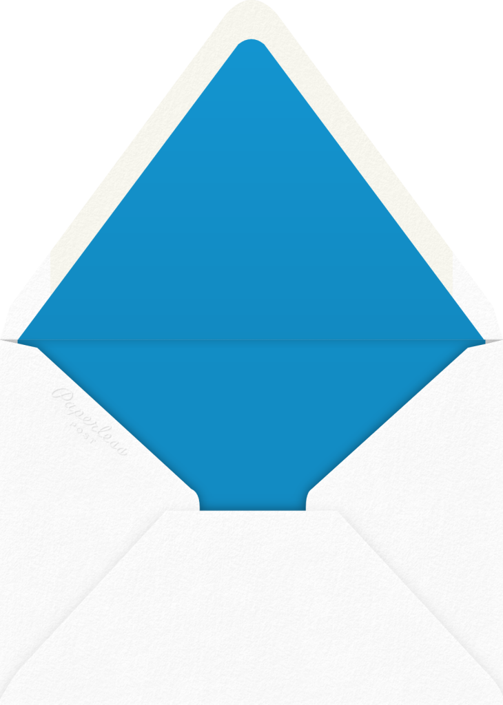 Gradient Messy Strokes - Blue - Paperless Post - Envelope