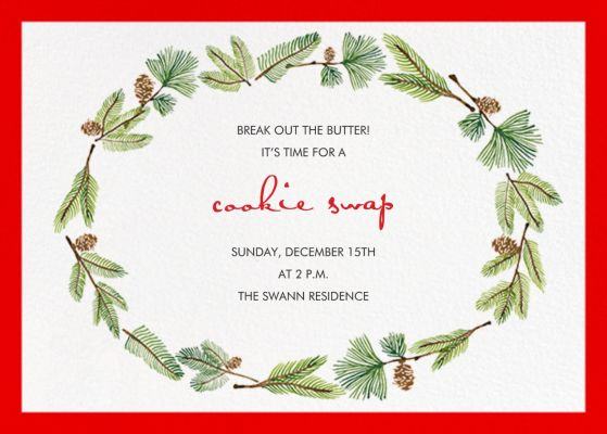 Delicate Firs - Paperless Post - Holiday invitations