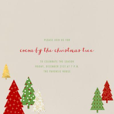 Modern Christmas Trees - Paperless Post