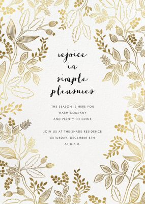Queen Anne (Invitation) - Rifle Paper Co. - Holiday invitations