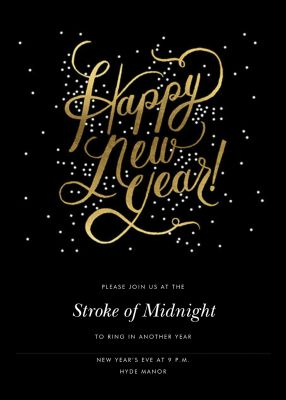 Shimmering New Year - Invitation - Rifle Paper Co.