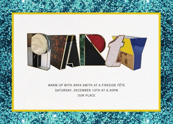 Alphabet Turquoise - Mary Katrantzou - Holiday invitations