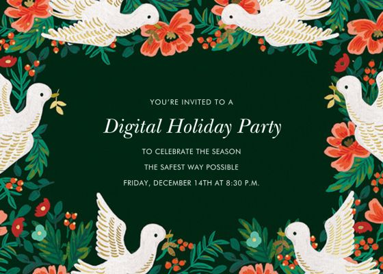 Peace Doves - Rifle Paper Co. - Holiday invitations